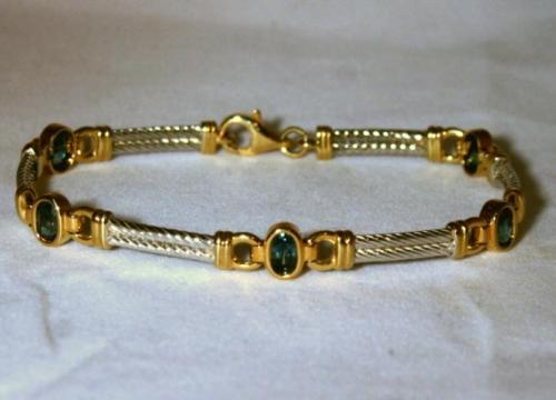 14K Montana Sapphire Bracelet