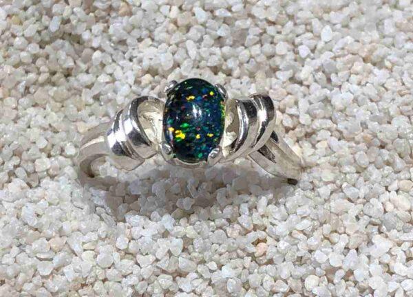 Idaho-Opal-Ring