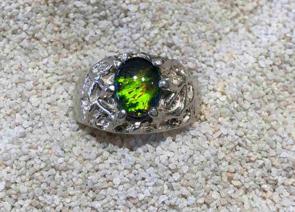 Idaho-opal-Ring-Wide