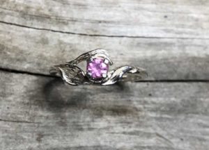 Pink-Sapphire-Nature-Ring