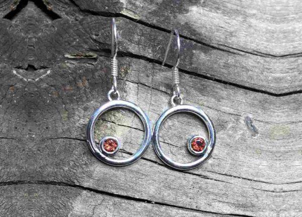 Open Circle Dangle earrings