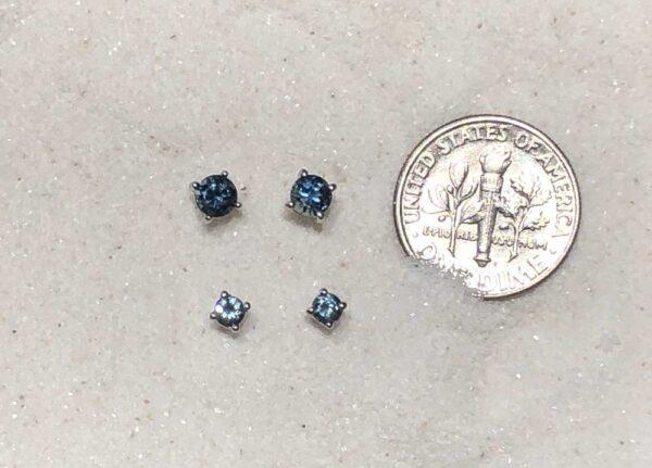 blue Montana sapphire studs