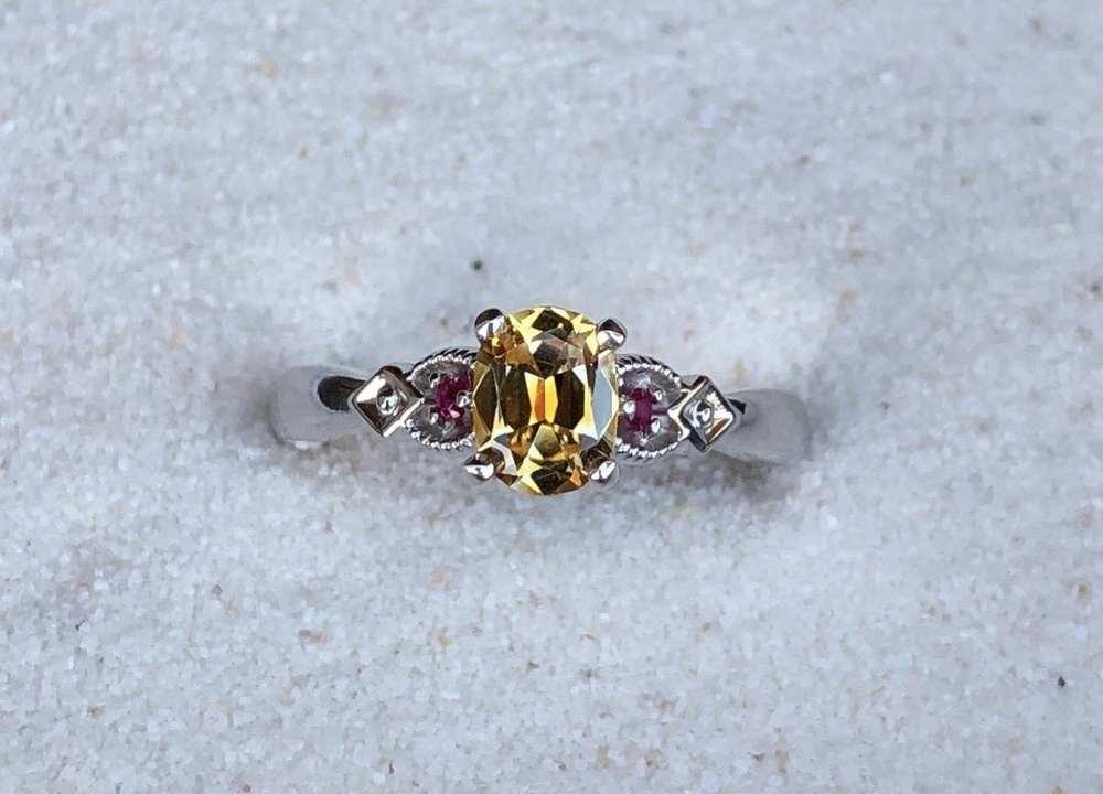 Dark-Yellow-Engagement-Ring
