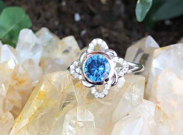large blue halo ring