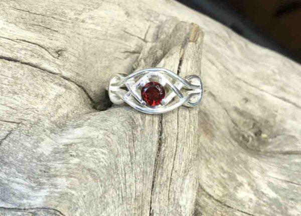 Garnet-Lasso-Sterling-Ring